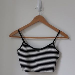 Pull&Bear Stripped Crop Top